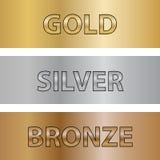 Texturer av metall royaltyfri illustrationer
