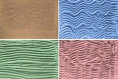 Texturer av sand Arkivfoton