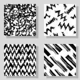 Texturer för monokrom lantgård för samling sömlösa för digital design Vektormodeller för rengöringsduk, textil, tyg och stock illustrationer
