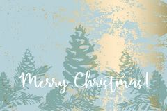 Texturer för vinter för vektor för julgrankottemålning arkivbild