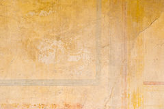 Texturer från färgväggar av forntida Pompeii fördärvar Royaltyfri Bild