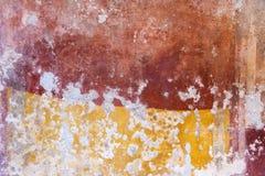 Texturer från färgväggar av forntida Pompeii fördärvar Royaltyfri Fotografi