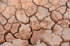 Texturera av knäckt jord Royaltyfri Bild