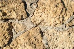 Texturera av limestoneväggen Royaltyfri Bild