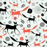 Texturera av rävar stock illustrationer