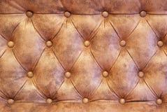 Texturera av sofaläder Fotografering för Bildbyråer