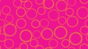 Texturera den sömlösa modellen från uppsättningen av mång--färgade enkelt sned bubblacirklar för rundan abstrakt begrepp av geome vektor illustrationer