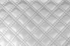 Texturera den vita diamanten för konstgjort läder med den sydde häftklammeren vektor illustrationer