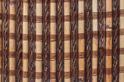 Texturera en bambu med att väva för tyg Royaltyfria Bilder
