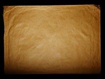 Texturera gammal tappning gulnat papper, handstillegitimationshandlingar Royaltyfri Foto