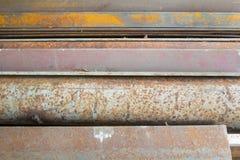 Gammalt stålsätta Arkivbild