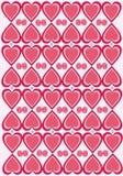 Texturera med hjärtor Arkivfoto