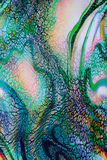 Texturera och abstrakt begrepp av gjorde randig leoparden för trycket den tyg Fotografering för Bildbyråer