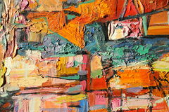 Texturera olje- målning, målning författaren Roman Nogin, en serie av `-jazz `, arkivbilder