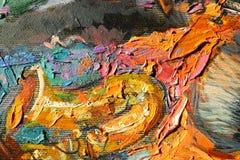 Texturera olje- målning, målning författaren Roman Nogin, en serie av `-jazz `, Arkivfoto