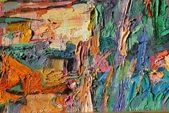 Texturera olje- målning, målning författaren Roman Nogin, en serie av `-jazz `, Royaltyfria Bilder