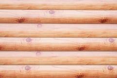 Texturera träbruna journaler med fnuren fotografering för bildbyråer