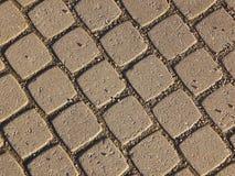 Texturerad bakgrund av en trottoarsten Royaltyfria Foton
