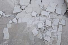 Texturerad bakgrund av sprucket kritiserar och geometriska former Fotografering för Bildbyråer