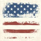Texturerad bakgrund för amerikanska flaggan tappning. Royaltyfri Foto