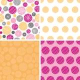 Texturerad bubblauppsättning för vektor abstrakt begrepp av fyra Royaltyfri Fotografi