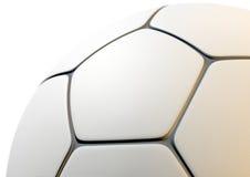 Texturerad Closeup för fotbollboll Fotografering för Bildbyråer