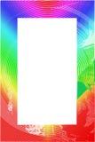 texturerad färgrik ram för kant Royaltyfri Bild