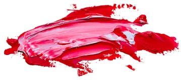 Texturerad för målarfärgborste för röd och vit olja slaglängd stock illustrationer