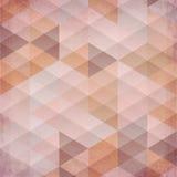 Texturerad för vektortrianglar för tappning beige bakgrund Arkivbild