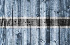 Texturerad flagga av Botswana i trevliga färger Arkivfoto