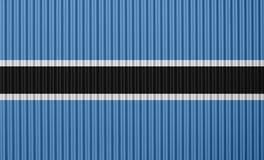 Texturerad flagga av Botswana i trevliga färger Royaltyfri Foto