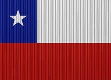 Texturerad flagga av Chile i trevliga färger Royaltyfria Bilder
