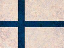 Texturerad flagga av Finland i trevliga färger fotografering för bildbyråer