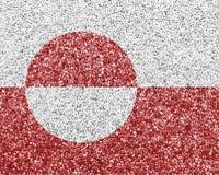 Texturerad flagga av Grönland i trevliga färger arkivfoto