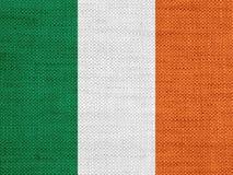 Texturerad flagga av Irland i trevliga färger arkivfoto
