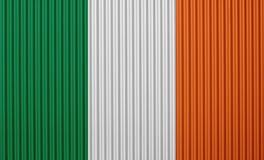 Texturerad flagga av Irland i trevliga färger Arkivbild