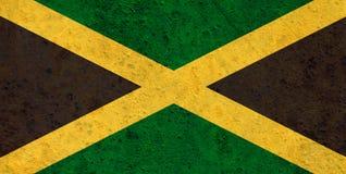 Texturerad flagga av Jamaica i trevliga färger Royaltyfri Bild
