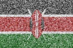 Texturerad flagga av Kenya i trevliga färger arkivbilder