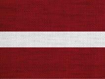 Texturerad flagga av Lettland trevliga färger Royaltyfria Bilder