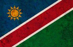 Texturerad flagga av Namibia i trevliga färger arkivfoto