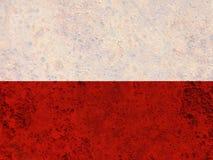 Texturerad flagga av Polen i trevliga färger royaltyfria foton