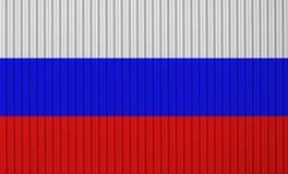Texturerad flagga av Ryssland i trevliga färger arkivfoto