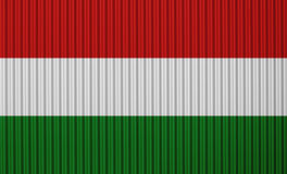 Texturerad flagga av Ungern i trevliga färger Arkivbild