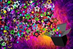texturerad gåvagrungeferie Royaltyfria Bilder