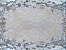Texturerad glass ram i blått och grå färger arkivbilder