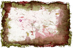 texturerad grungered för 3 D Royaltyfria Bilder