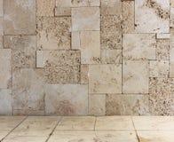 Texturerad grungevägg- och golvmodell Royaltyfri Foto