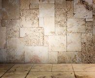 Texturerad grungevägg- och golvmodell Royaltyfria Bilder