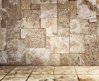 Texturerad grungevägg- och golvmodell Arkivbilder