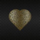 Texturerad guld- surround en hjärta för design Arkivfoton